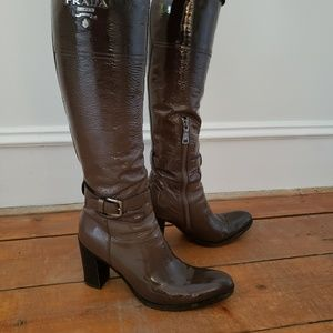 Prada leather boots, size 37